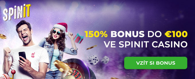 150% bonus do €100 ve Spinit casino a víc
